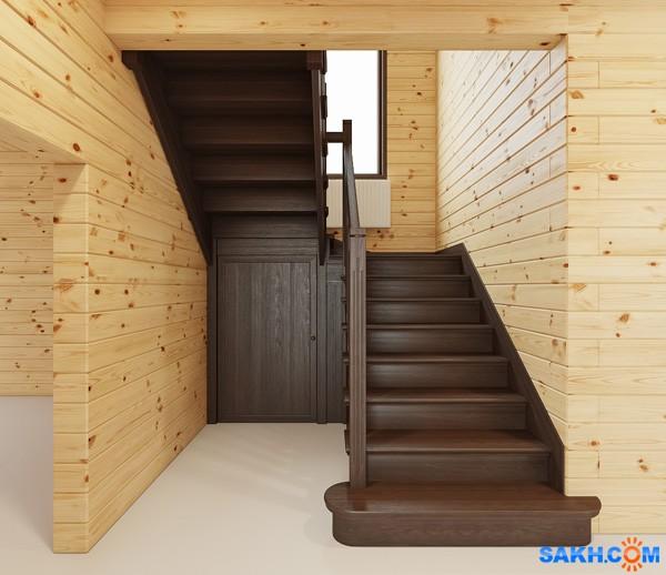 Деревянные лестницы п образные