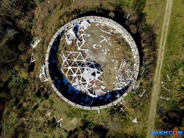 Фундамет бывшего купола обороны