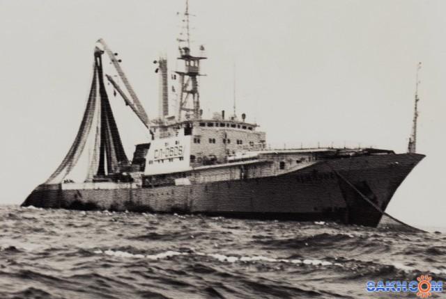 ЗЕМЛЯНСК.   Фотограф: Из фотоархива Замятина В.Е.) (Тунцелов на промысле тунца, НБТФ, 1980 год)  Просмотров: 4533 Комментариев: 0