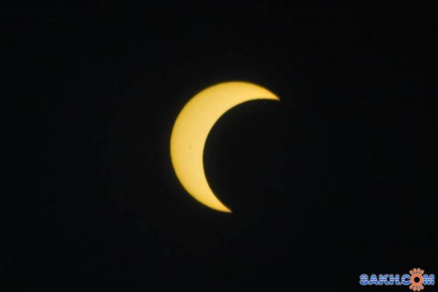 Частичное солнечное затмение 21 мая 2012 года.  Просмотров: 1058 Комментариев: 0