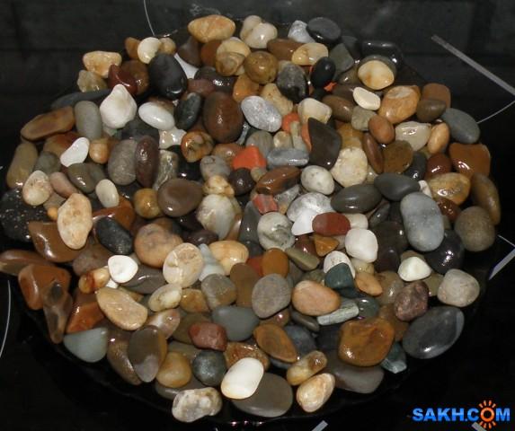 Гравий. Разноцветные камешки, собранные на побережье.  Просмотров: 123 Комментариев: 0