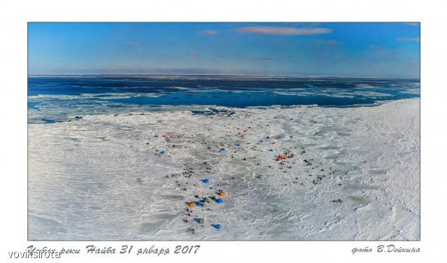 Устье реки Найба 31.01.2017 Фотограф: В.Дейкин  Просмотров: 253 Комментариев: 3