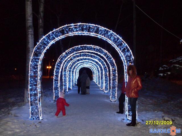 Новогодняя арка на вход своими руками
