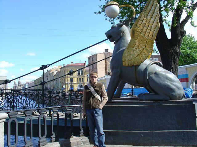 Питер, грифоны у банковского мостика. Любимый город - город на Неве.  Просмотров: 2964 Комментариев: 4