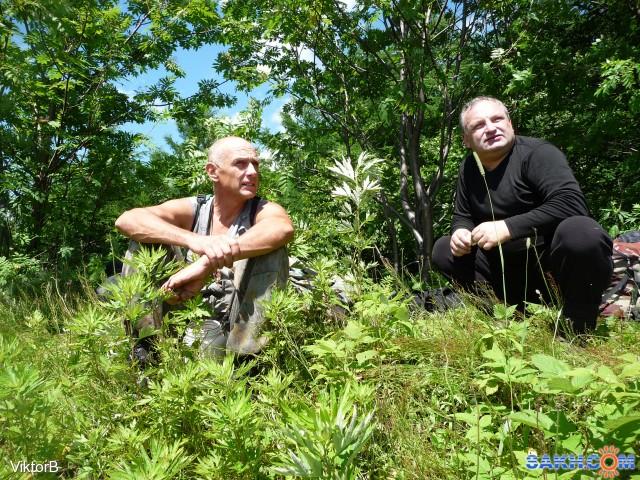 Неторопливая беседа на отдыхе, общение, тепло и Природа! Володя и Андрей!