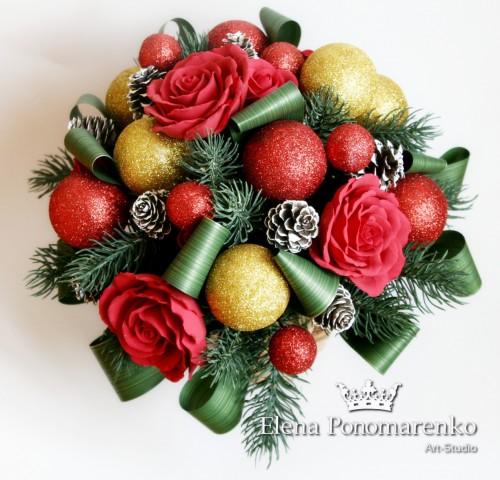 """Новогодний букет """"Рождество""""  Просмотров: 110 Комментариев: 0"""