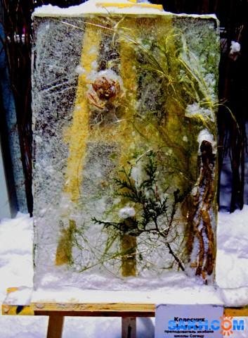 Ледяная картина.  Просмотров: 330 Комментариев: 0