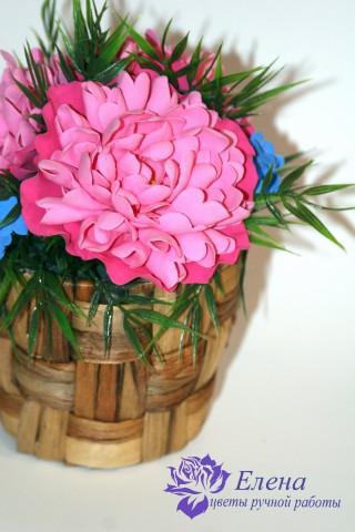 """Интерьерный букет """"Розовый пион""""  Просмотров: 519 Комментариев: 0"""