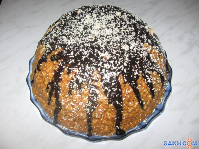 Шапка мономаха торт фото-рецепт