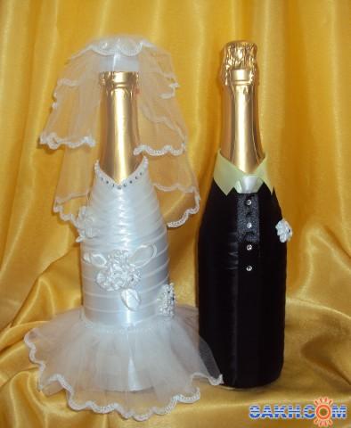 Оформление бутылки шампанского своими руками видео