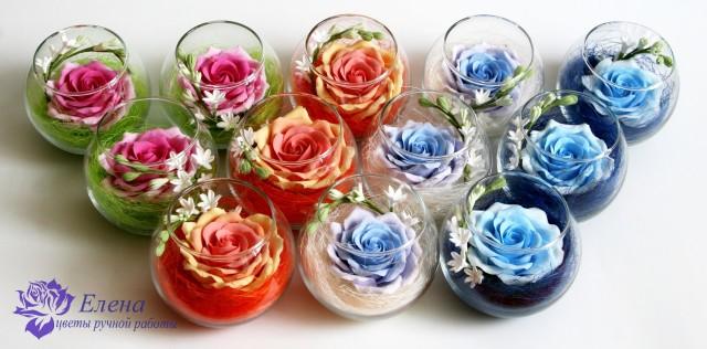 Круглая вазочка