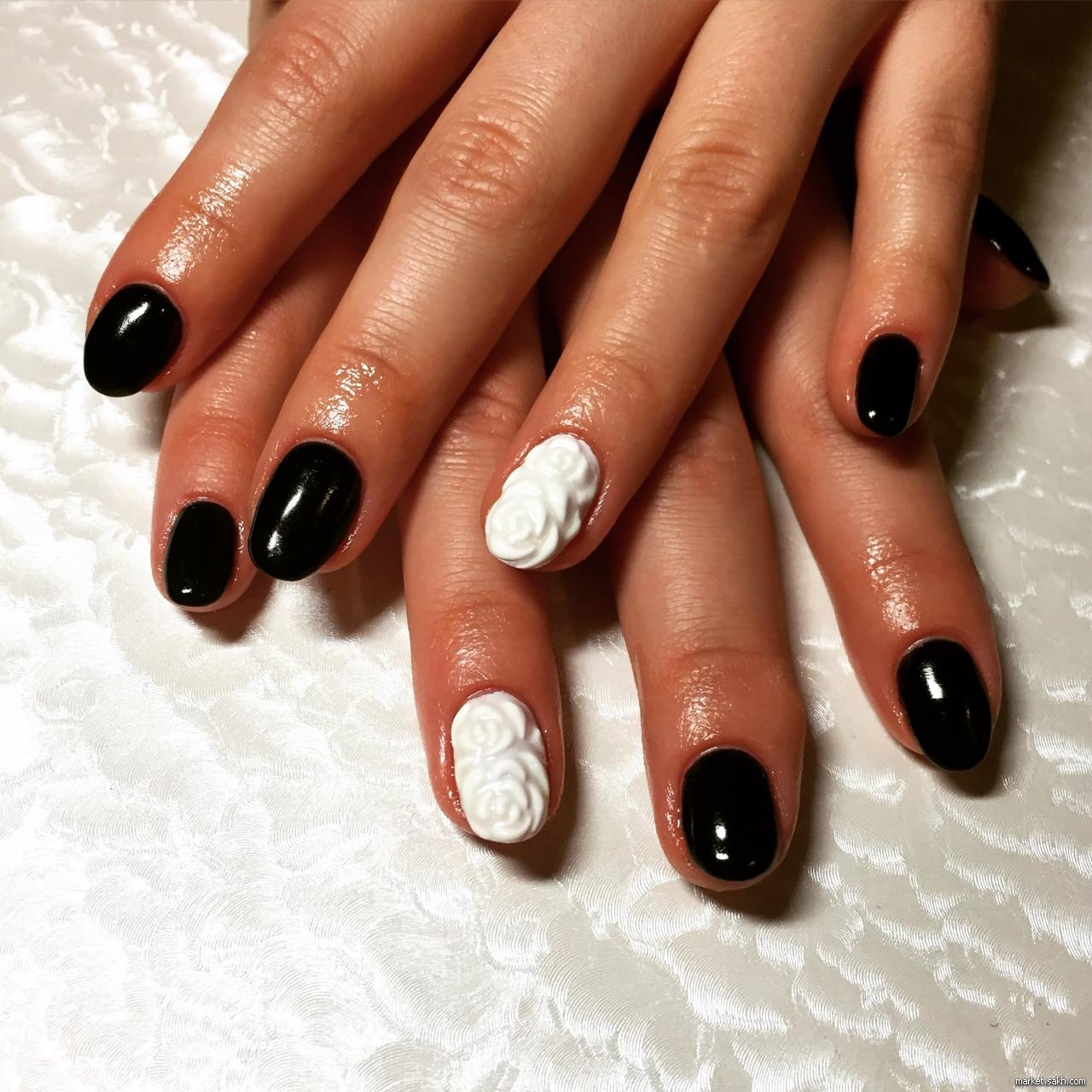 Дизайн Шеллак Короткие Ногти Фото Красный