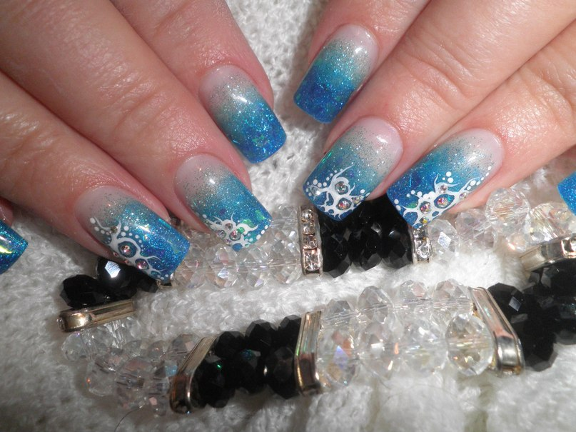 Дизайн ногтей с амбре фото