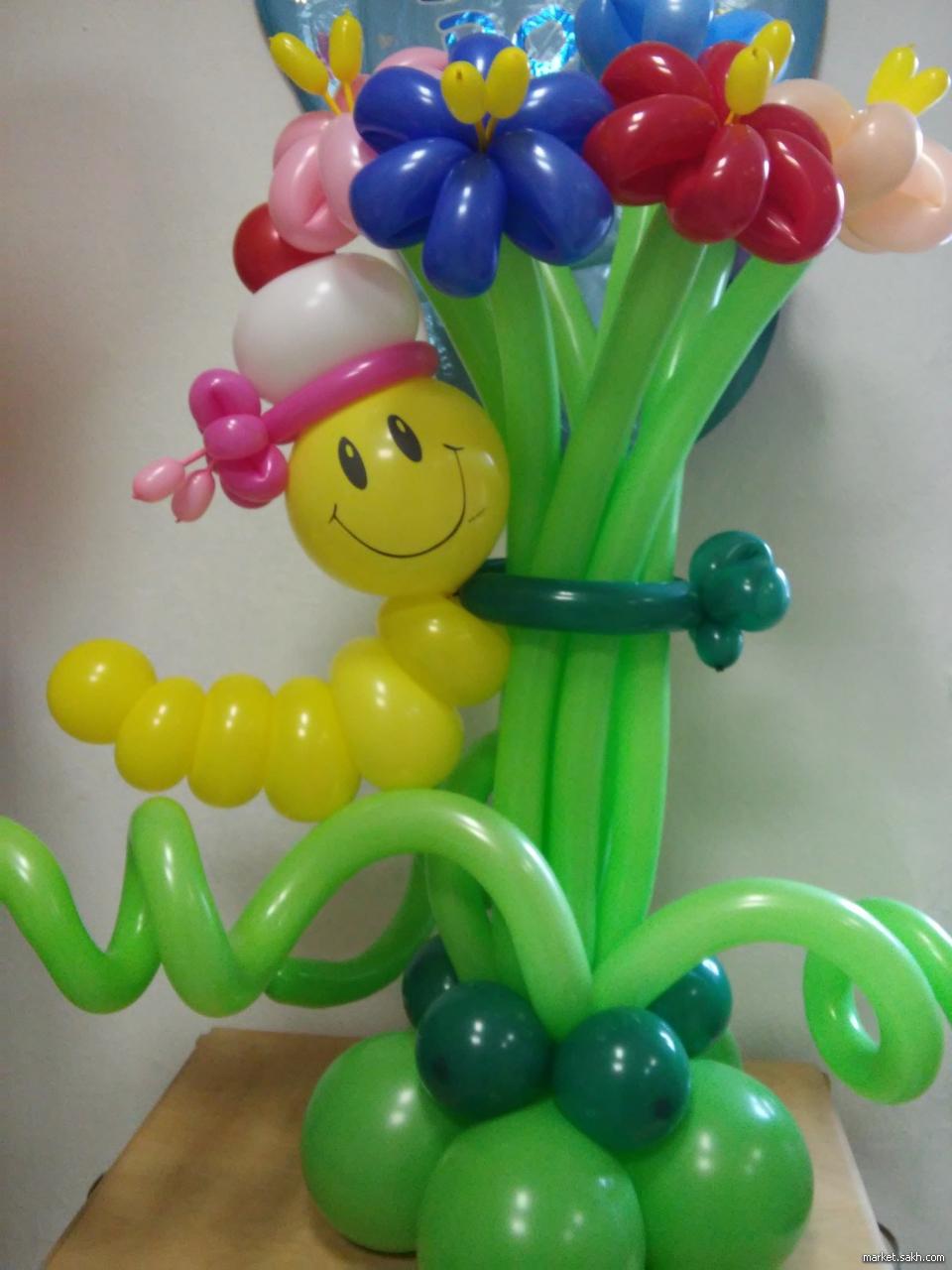 Как сделать из поделки из шаров