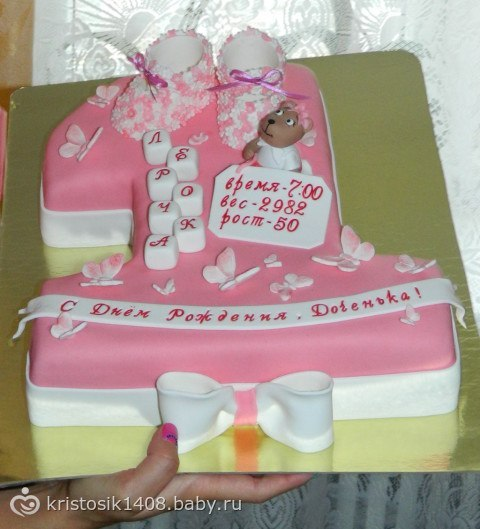 Торты на годик девочке без мастики своими руками