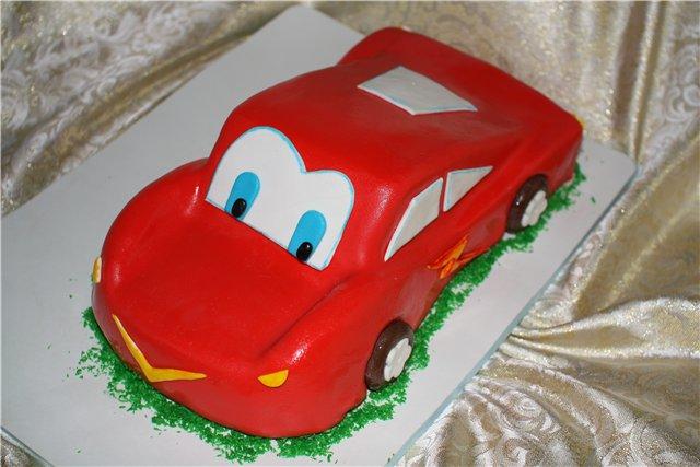 Фото торт машина из мастики