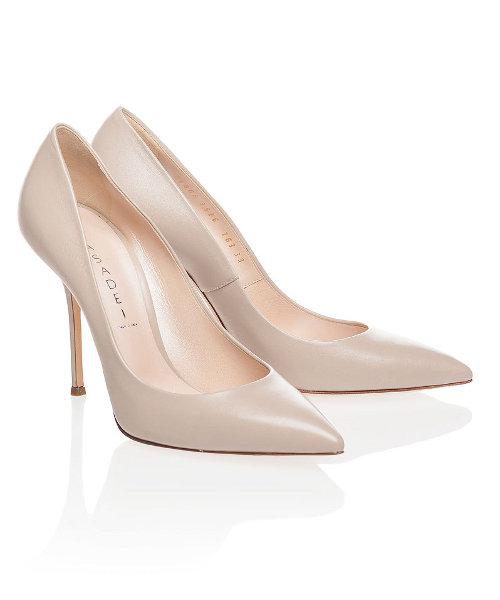 CASADEI - Кожаные туфли-лодочки бежевого цвета с острым мысом в. Туфли CASADEI - Кожаные туфли-лодочки бежевого цвета