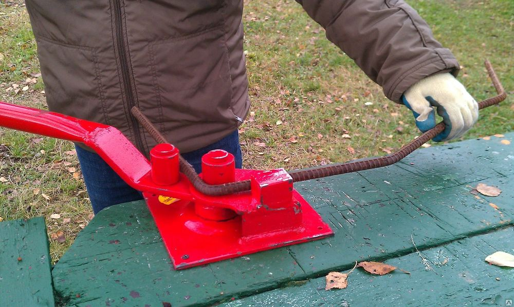 Ручной станок для гибки арматуры до 10 мм.(хомут) .