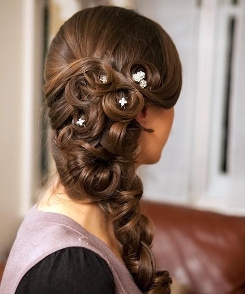 вечерние косы из длинных волос фото