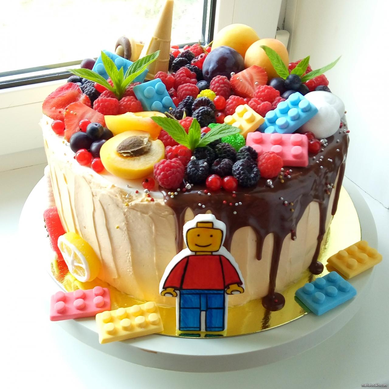 Торт мальчику без мастики