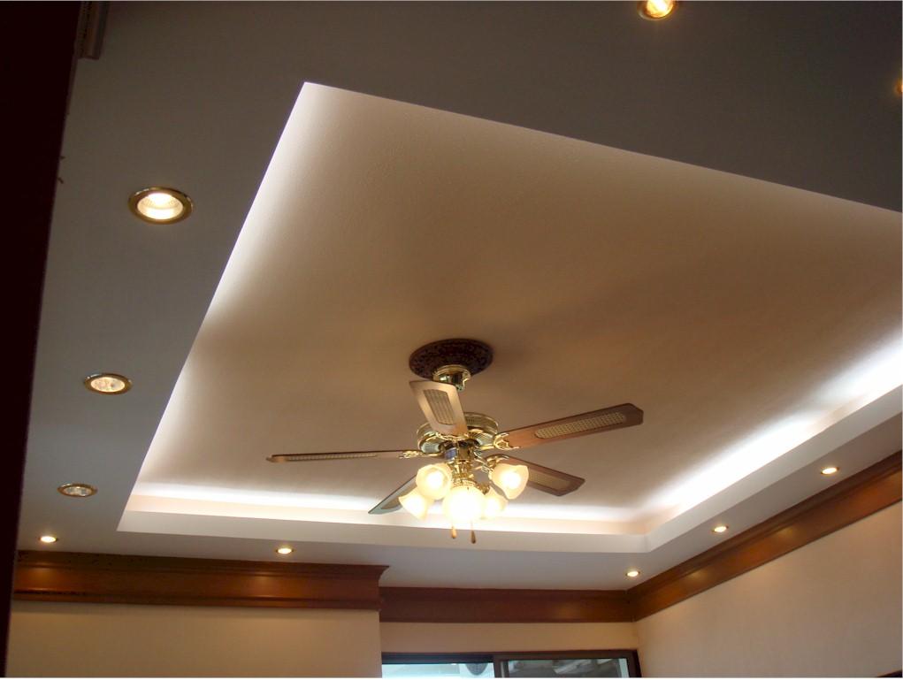 Двухуровневый потолок с подсветкой своими руками фото