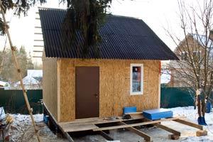 Дачный домик из осб панелей