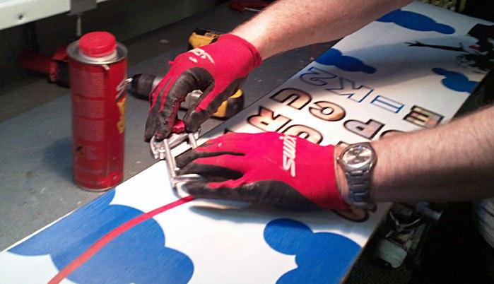 Заточка канта сноуборда своими руками
