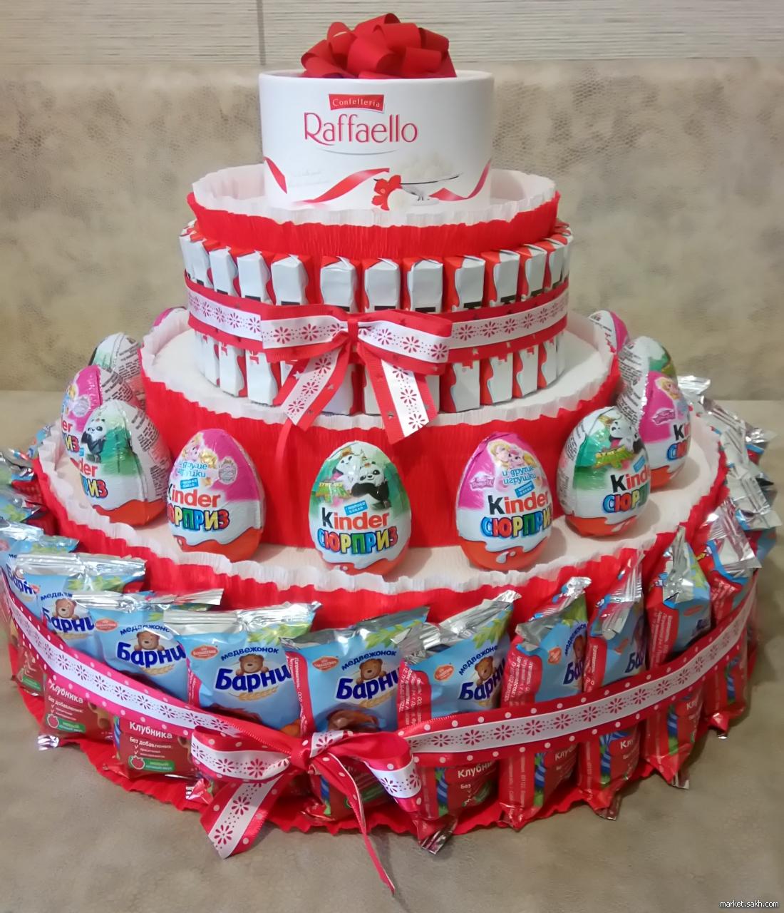 Торт из шоколадок и сока своими руками в детский сад 64