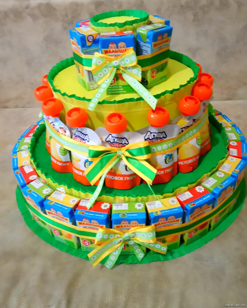 Торты для детей в садик как сделать