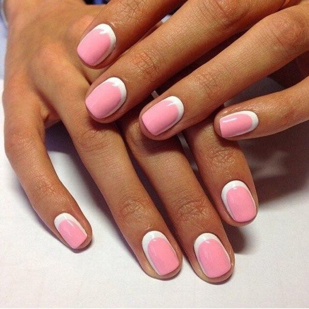 Ногти розовый шеллак
