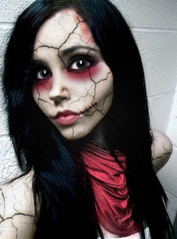 Фото страшный макияж на хэллоуин