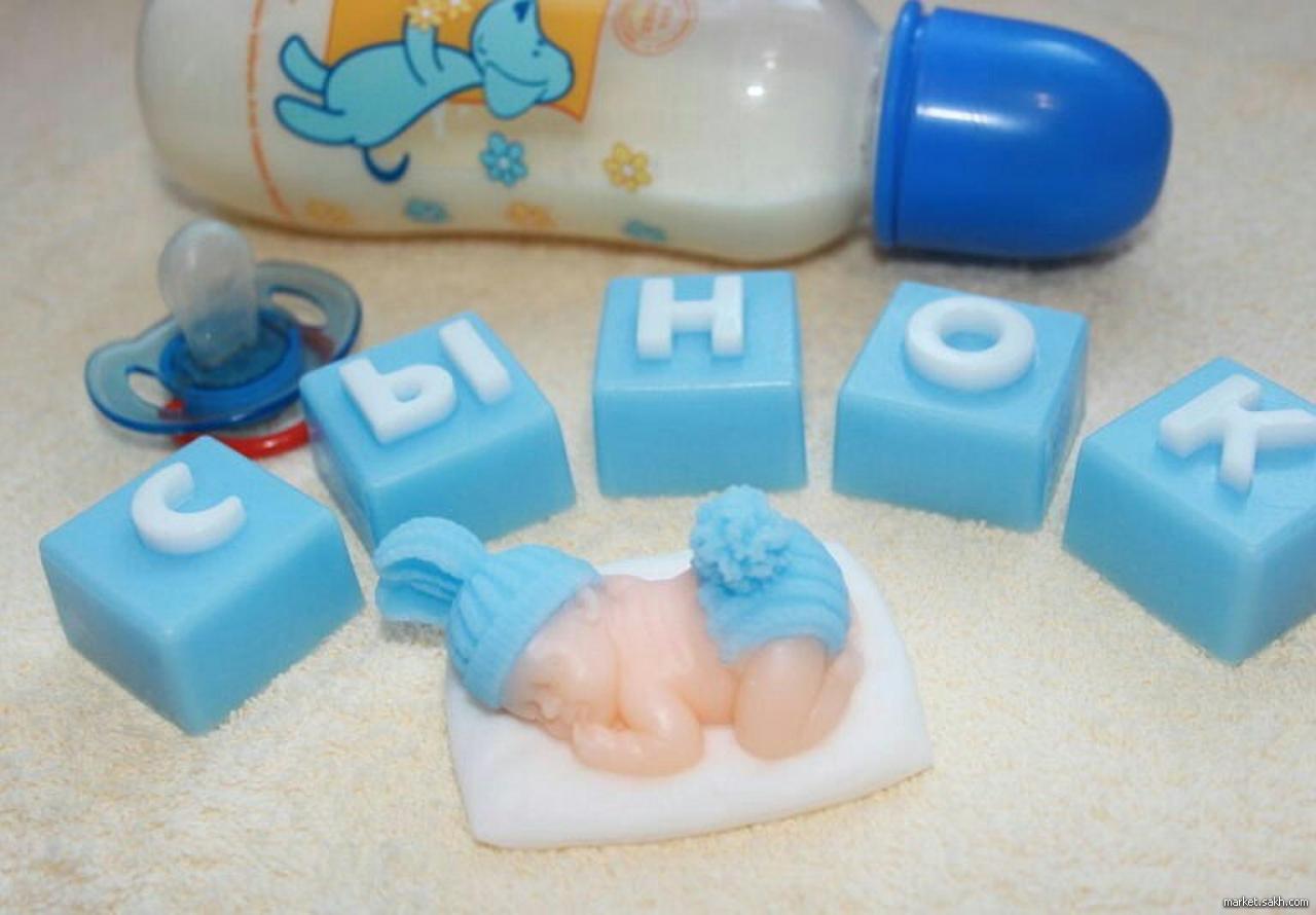 Мыло своими руками с буквами