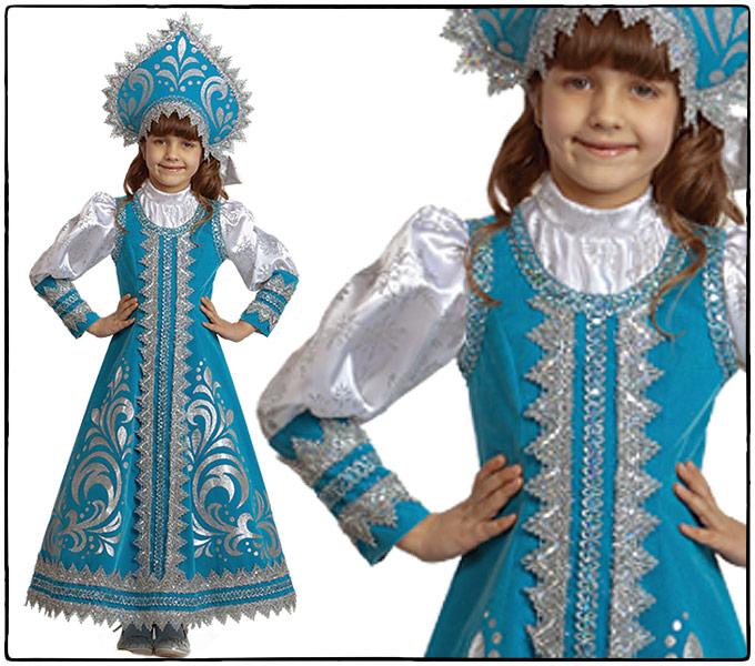 Снегурочка костюм детский своими руками