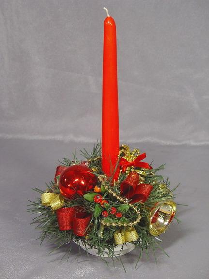Оформления новогодней свечи своими руками