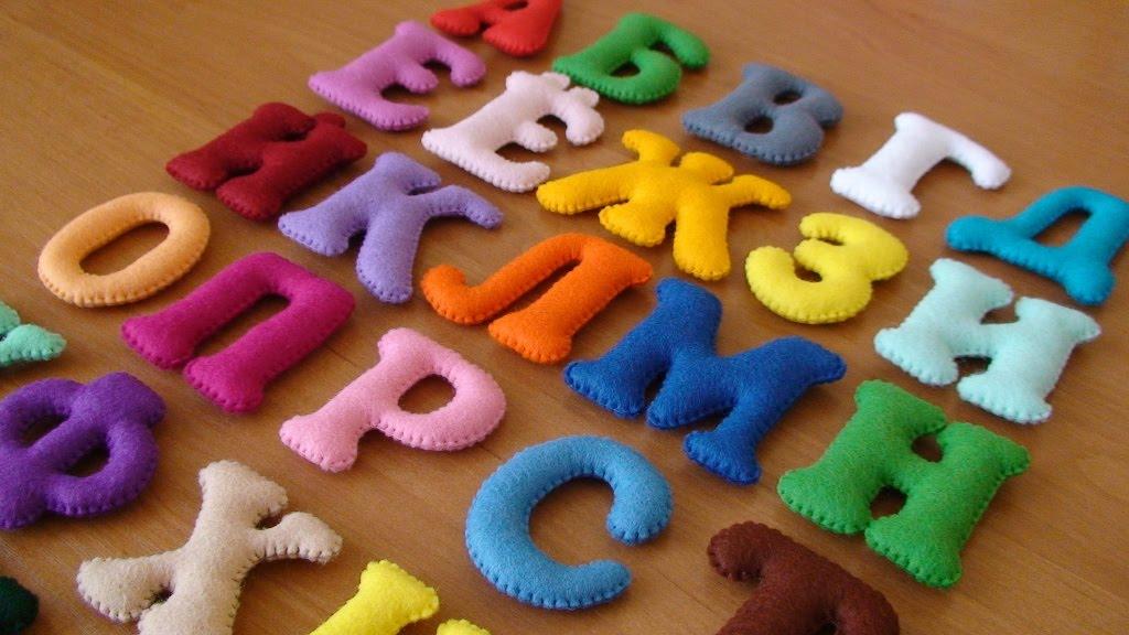 Буквы из ткани своими руками