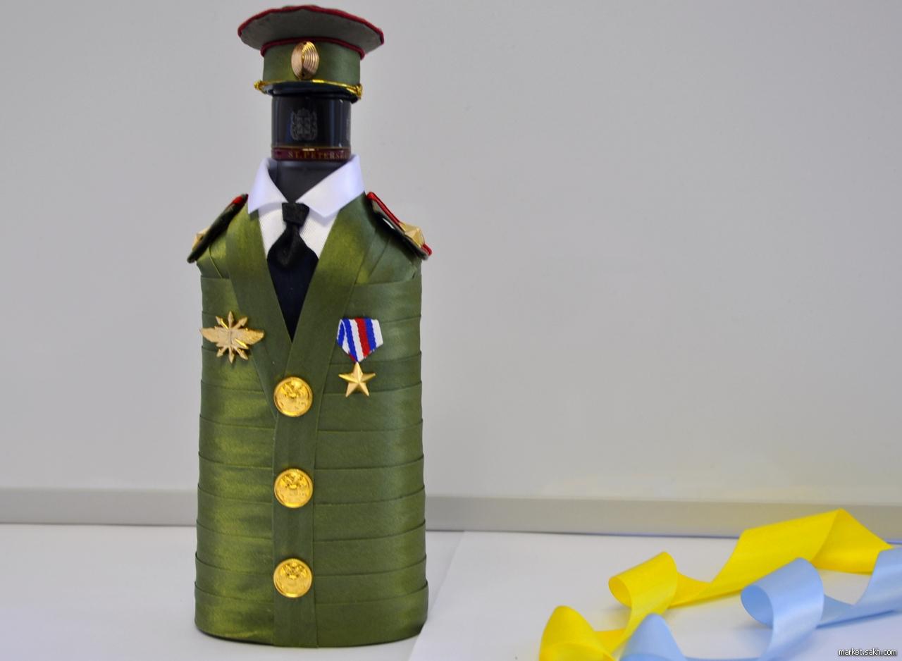 Бутылка в форме своими руками 91