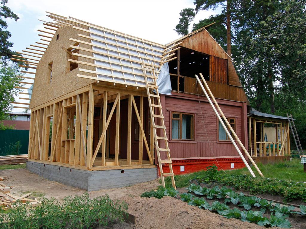 Расширить деревянный дом своими руками