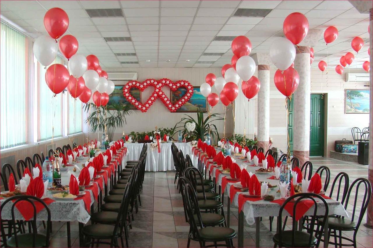 Украшение зала на свадьбу своими руками