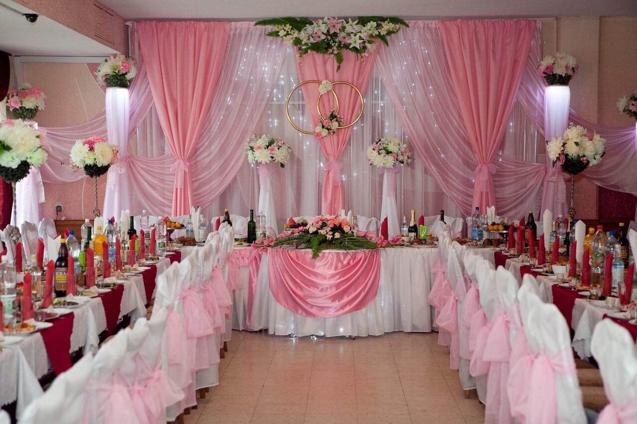 Фото оформления зала на свадьбу своими руками