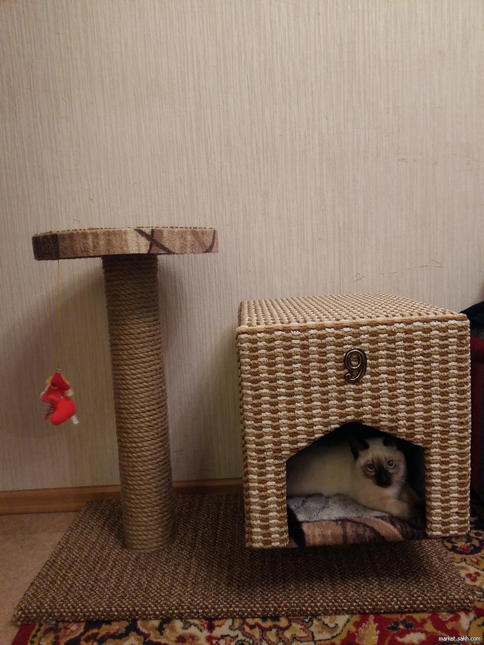 Домики-когтеточки для кошек своими руками 57