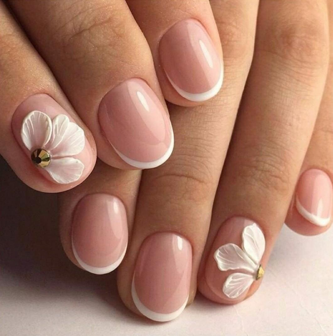 Маникюр френч фото на короткие прямые ногти