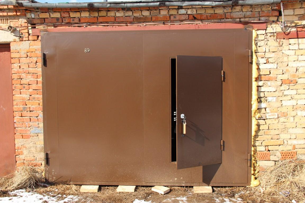 Как сделать железная дверь для гаража 391