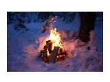 Огонь жаркого костра в заснеженной тайге.. Сумерки.. Фотограф: vikirin  Просмотров: 4694 Комментариев: 0