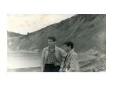 """Курилы. о. Кунашир. озеро""""Горячее """", август 1963 г. Фотограф: Горбачев Петр август 1965 год.  Просмотров: 505 Комментариев: 1"""