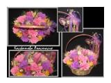 .. Очаровательная корзина цветов ручной работы с конфетами внутри. Такой подарок не оставит равнодушным свою обладательницу.  Просмотров: 1532 Комментариев: 0
