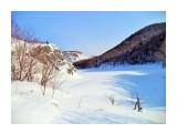 кивасян: озеро Октябрьское под снегом