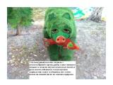 Фото  зелёного медведя скульптурный коллаж в paint,медведь с лососем  Просмотров: 50 Комментариев: