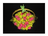 """корзина тюльпанов 41 конфета """"Шоколадная ночь""""  Просмотров: 1089 Комментариев: 0"""