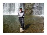 На камешке! За спиной водопад и удовлетворение увиденным !  Фотограф: viktorb  Просмотров: 840 Комментариев: 0