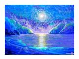 Лунная ночь.15.04.2014. Paint.Рисунок ПК  Просмотров: 364 Комментариев: 1